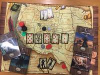 Deadlands - Mappa del West su cotone pesante